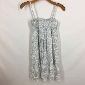 Justice Dresses - Justice Girls cotton sundress white silver Paisley
